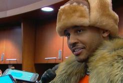 Twitter Reacts To Carmelo Anthony's Outrageous Winter Wardrobe