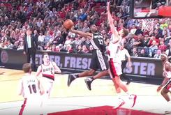 Watch Jonathan Simmons Obliterate Meyers Leonard At The Rim