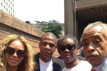 "Beyonce & Jay Z Attend ""Justice For Trayvon"" Rally In New York"