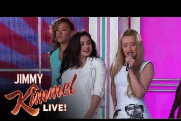 "Iggy Azalea Performs ""Fancy"" With Charlie XCX On Jimmy Kimmel"