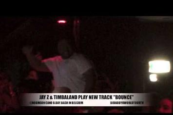 "Timbaland Previews New Jay Z Track ""Bounce"""