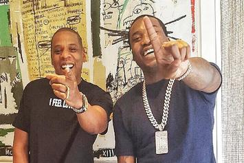 Meek Mill Celebrates #1 Album With Jay Z, Fabolous, & Kevin Hart