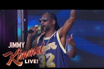 "Snoop Dogg Debuts New Song ""Fireworks"" On Jimmy Kimmel"