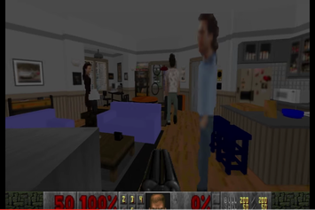 "Someone Recreated Jerry Seinfeld's Apartment In The Classic ""Doom"" Game"