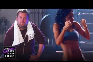 "James Corden Parodies Kanye West's ""Fade"" Video"