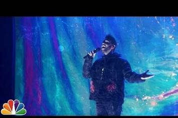 """The Weeknd Performs """"Starboy"""" & """"I Feel It Coming"""" On Fallon"""