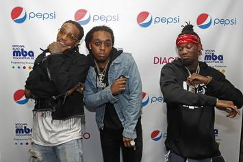 """Migos Brings Out Chance The Rapper, YG, 2 Chainz, & More For """"Bad And Boujee"""" In LA"""