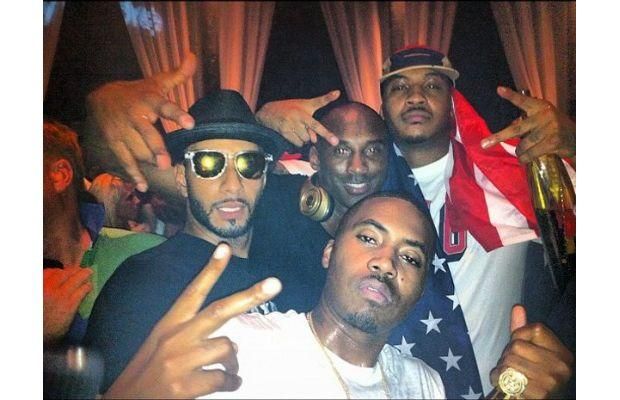 Nas, Swizz Beatz, Kobe Bryant, & Carmelo Anthony