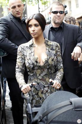 Kim Kardashian on way to pre-wedding brunch
