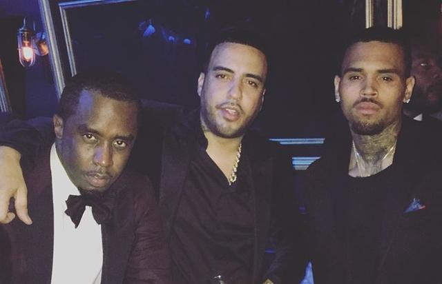 Diddy and French Montana and Chris Brown