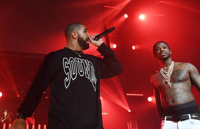 "Gucci Mane and Drake at Gucci Mane's ""homecoming"" concert in ATL"