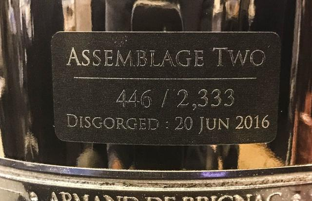 A2 bottle of champagne