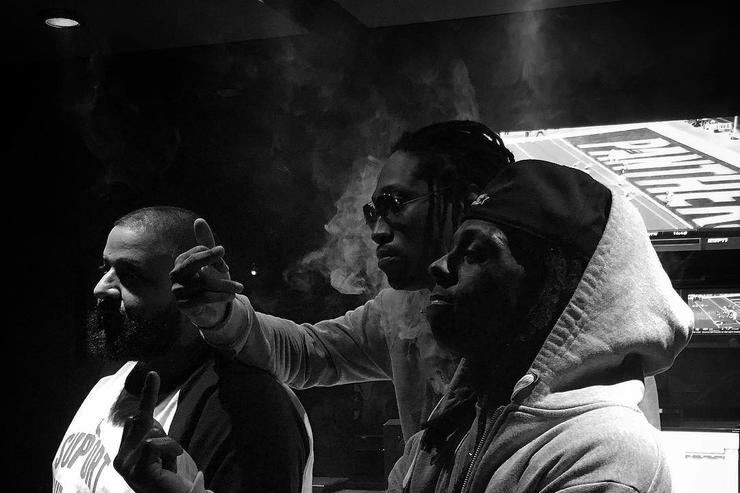 Future, Lil Wayne, and DJ Khaled in the studio